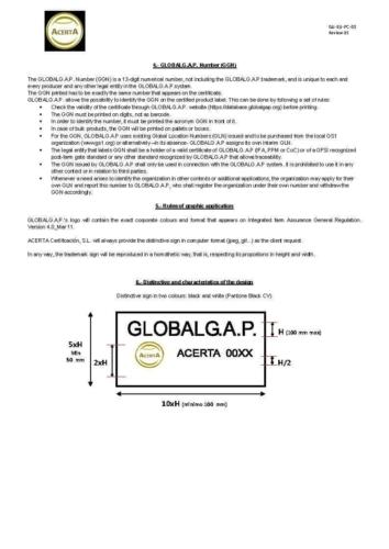 GLOBALGAP User guidelines of trademark - Rev 05 Page 2